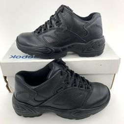 Reebok Postal Express Women's Size 7 Black Leather Oxfords