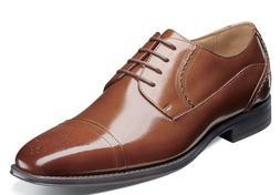 Stacy Adams Powell Cap Toe Oxford Shoes Cognac 25246-221