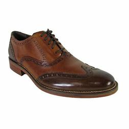 Cole Haan Mens Preston Wingtip Oxford Shoes, Dark Brown, US