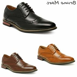 Bruno Marc Mens Classic Formal Modern Wingtip Lace Up Dress