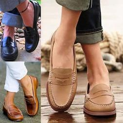 Fashion Womens Leather Casual Flats Loafers Slip On Ballet O