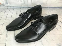 Calvin Klein Ripley Men's Black Tumbled Leather Oxfords Shoe
