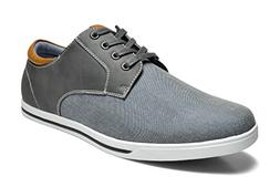 Bruno Marc Men's RIVERA-01 Grey Oxfords Shoes Sneakers - 12