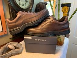 Rockport Brown Leather COMFORT Walking Shoes Oxfords Size 10