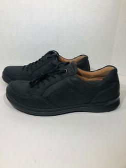 ECCO Shock Point Men's Size 9 Black Apron Toe Oxford Casua