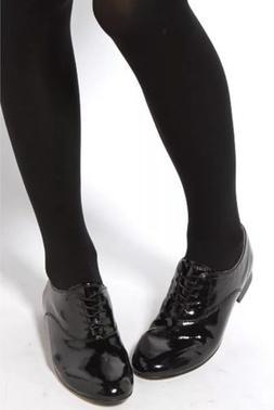 BLOCH Shoes Lace Up Oxfords Black Soft Patent Leather Size: