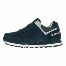 Reebok Men's Navy Leelap Steel Toe Retro Jogger Oxford Shoes