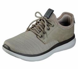 Skechers Shoes Men Taupe Memory Foam Casual Comfort Oxford S