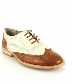 Wanted Shoes Women's Babe Oxford, Tan/Natural Size 7 New