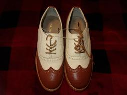 Wanted Shoes Women's Babe Oxford, Tan/Natural Size 8 New