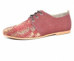 Fuchsia Shoes Women's Casual Wear Vegan Oxfords in Red - 7