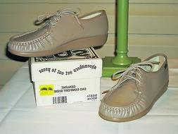 SAS Siesta Women's Mocha Leather Walking Oxford Shoes - NEW