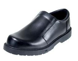 Skechers: Slip-Resistant Slip-On Black Oxford Shoes 76083BWX
