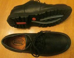 smart comfort black leather waterproof oxford shoes