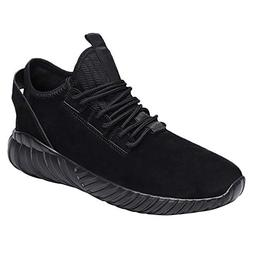 Geetobby Men Fashion Sneakers Flat Lace-UP Sport Shoe Solid