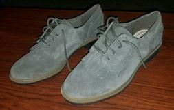Clarks Somerset 15190 Women's 9M Shoe Laced Oxford Suede Lea