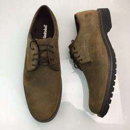 Timberland Stormbuck Waterproof Oxford Shoes Olive Brown Nub