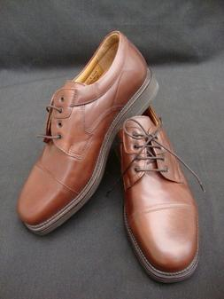 Bostonian Strada Brown Leather Cap Toe Shoes/Lace up Oxfords
