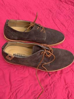 Dadawen Suede Mens Dress Shoes Oxfords Brown, NEW, Size 10.5