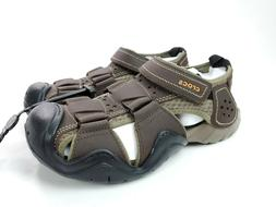 Crocs Swiftwater Men's Leather Fisherman Shoes Sandals Espre