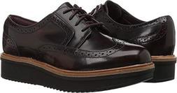 CLARKS Women's Teadale Maira Oxford, Aubergine Shiny Leather