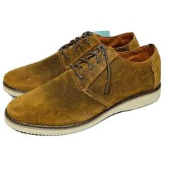 Toms Preston Mens Oxford Dress Shoes Brown Distressed Leathe