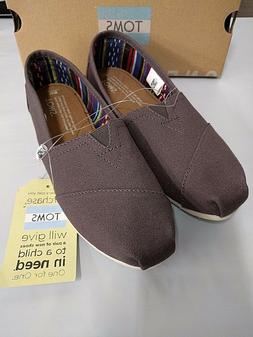 Toms Womens Classic Gray Ash Flats Oxfords Shoes Slip On Pic