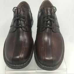 Clarks Touareg Mens Brown Leather Lace Up Bicycle Toe Oxford