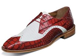 Stacy Adams Trazino Men's Shoes Oxford White Red 25271-120