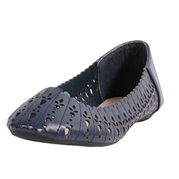 "Wanted ""Tulip Laser Cut Patterned Ballet Flat -"