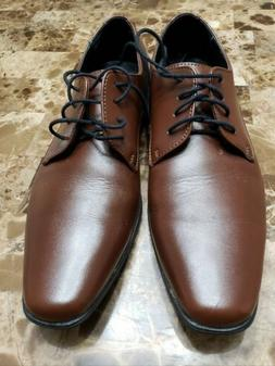 Pair Of Men's Calvin Klein Dress Shoes Cognac Color Size 1