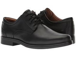 Clarks UN ALDRIC LACE Mens Black Leather 32677 Lace Up Comfo