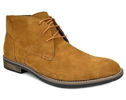 Bruno Marc Men's URBAN-01 Camel Suede Leather Lace Up Oxford