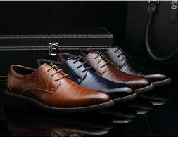 US Fashion Men's Formal Business Oxfords Leather Shoes Casua