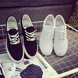 US Men's Casual Canvas Sneakers Flats Shoes Sports Outdoor B
