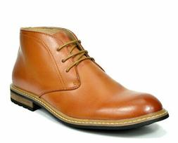 US  Men's Leather Lined Oxfords Dress Ankle Boots Lace Up Ch