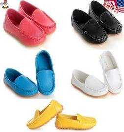USA Kids Baby Boys Girls Oxford Flat Boat Shoes Loafers Slip