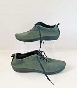 ARCOPEDICO Vegan LS Sneakers Gray Black 39 8 8.5 Lace Up Kni