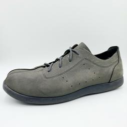 venture gray nubuck leather casual comfort oxford