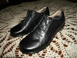RED WING Victoria Womens Black Leather Oxford Non-Slip Shoes