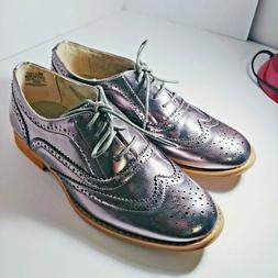 Wanted Women Pewter oxford shoe size 8  BABE