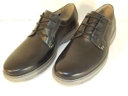 CLARKS WATTS PACE MENS OXFORD LACE UP SHOE BLACK LEATHER