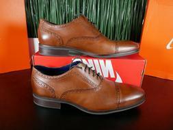 Cole Haan Wayne Cap Toe Oxford Leather British Tan Mens Shoe