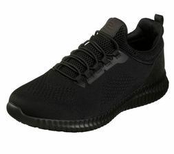 Skechers Wide Fit Black shoes Work Men's Slipon Slip Resista