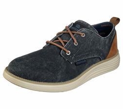 Skechers Wide Fit Navy shoes Men Memory Foam Casual Vintage