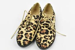 Ollio Women Classic Flat Shoe Lace Up Faux Suede Oxford, CHE
