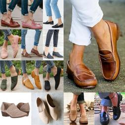 Women Flats Slip On Pumps Oxfords Loafers Work Office Ladies