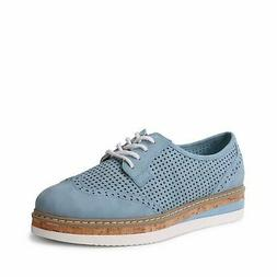 Wanted Shoes Women's Albans Perforated Lace-up Oxford Shoe