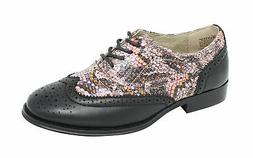Wanted Shoes Women's Babe Snakeskine Oxford