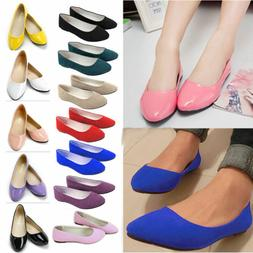 Women's Ballerina Ballet Flats Shoes Slip On Boat Loafers Pu